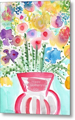 Flowers For Mom- Mother's Day Card Metal Print by Linda Woods