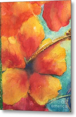 Flowers In Bloom Metal Print by Chrisann Ellis