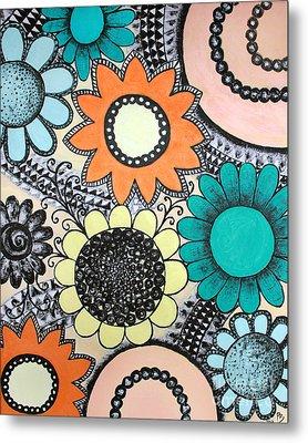 Flowers Paradise Metal Print by Home Art