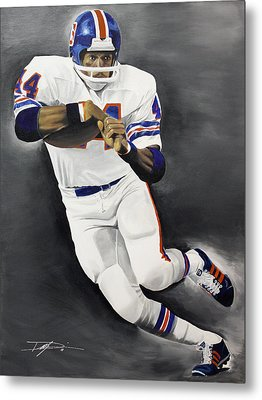 Floyd Little Metal Print by Don Medina