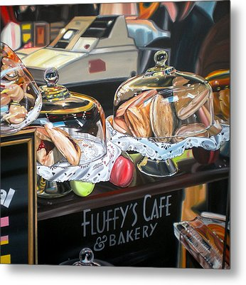 Fluffy's Cafe Metal Print by Anthony Mezza