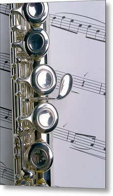 Flute Close Up Metal Print by Jon Neidert