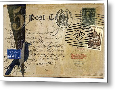 Fly By Night Mail Metal Print by Carol Leigh