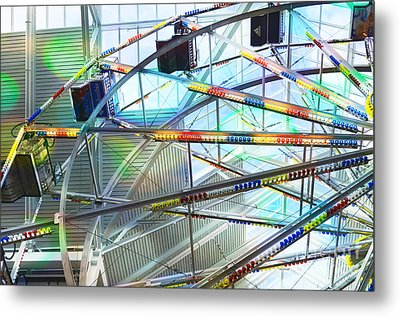 Flying Inside Ferris Wheel Metal Print by Luther   Fine Art