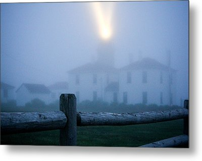 Foggy Day At The Lighthouse Metal Print by Allan Millora Photography