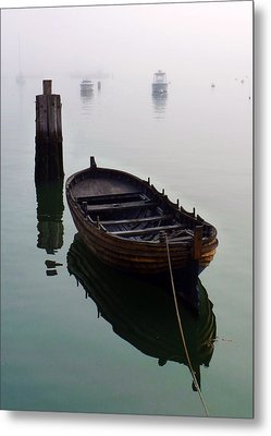 Foggy Morning Metal Print by Janice Drew