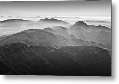 Foggy Mountains Metal Print by Nadya Ost