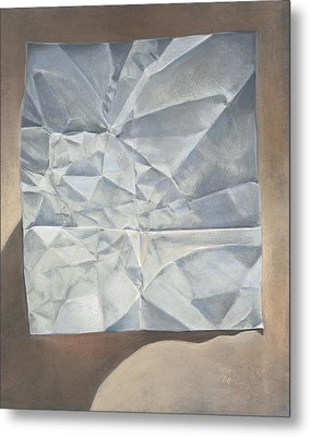 Folded Paper Metal Print by Nick Payne