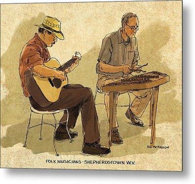 Folk Musicians Metal Print by RG McMahon