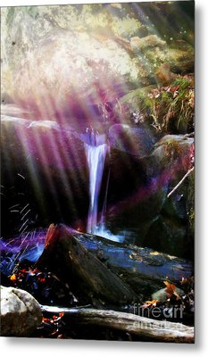 Follow  The Light Metal Print by Peggy  Franz