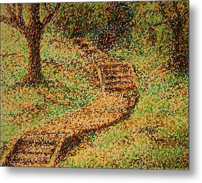Follow The Yellow Brick Road Metal Print by Lyndsey Hatchwell