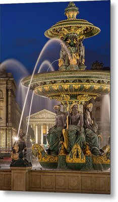 Fontaine Des Fleuves, Fountain Metal Print by Brian Jannsen