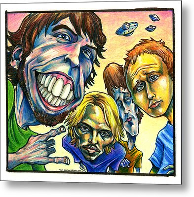 Foo Fighters Metal Print by John Ashton Golden