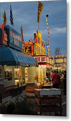 Food Court Metal Print by Skip Willits