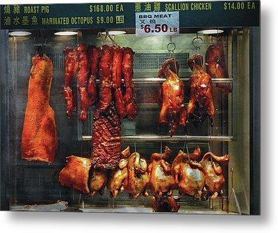 Food - Roast Meat For Sale Metal Print by Mike Savad