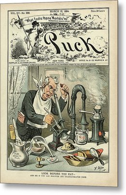 Food Testing Satire Metal Print by Library Of Congress