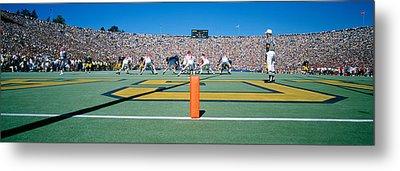 Football Game, University Of Michigan Metal Print by Panoramic Images