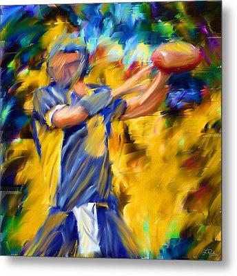 Football I Metal Print by Lourry Legarde