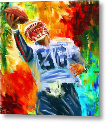 Football II Metal Print by Lourry Legarde
