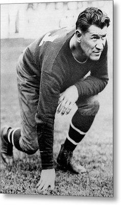 Football Player Jim Thorpe Metal Print by Underwood Archives