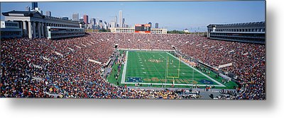 Football, Soldier Field, Chicago Metal Print by Panoramic Images
