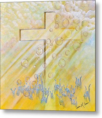For The Cross Metal Print by Cassie Sears