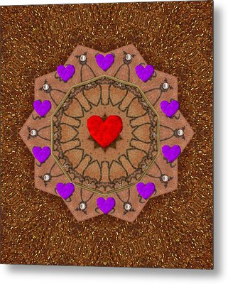 For The Love Of Hearts Metal Print by Pepita Selles