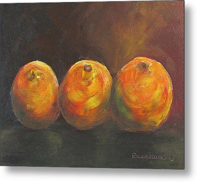 For The Love Of Three Oranges Metal Print by Susan Richardson