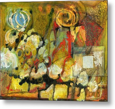 For Your Eyes Only Abstract Art Metal Print by Blenda Studio