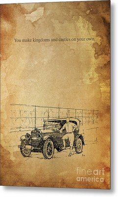 Ford And The Baseball Star Metal Print by Pablo Franchi