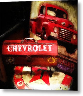 Ford Chevrolet Metal Print by Robert Smith