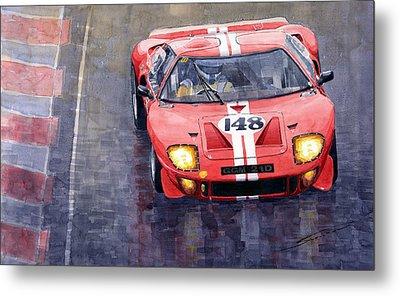 Ford Gt 40 24 Le Mans  Metal Print by Yuriy  Shevchuk