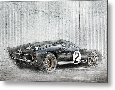 Ford Gt40 Metal Print by Peter Chilelli