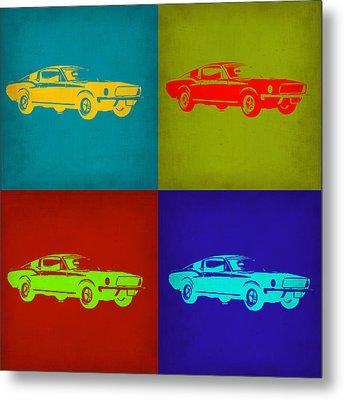 Ford Mustang Pop Art 1 Metal Print by Naxart Studio