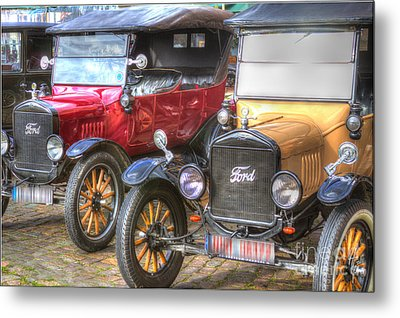 Ford-t  Mobiles Of The 20th Metal Print by Heiko Koehrer-Wagner