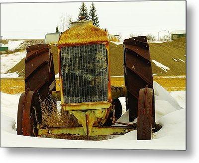 Fordson Tractor Plentywood Montana Metal Print by Jeff Swan