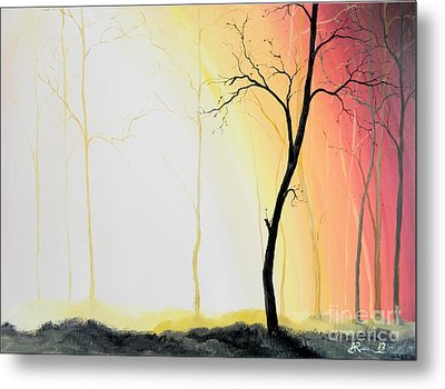 Forest Sunset Metal Print by Denisa Laura Doltu