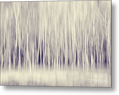 Forest Trees Abstract In Blue Ginger Metal Print by Natalie Kinnear