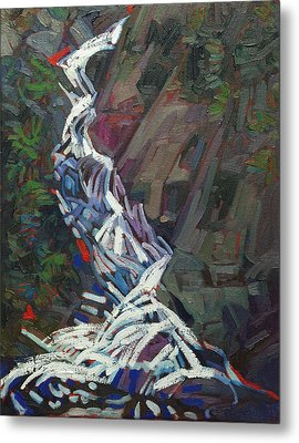 Forest Waterfall Metal Print by Phil Chadwick
