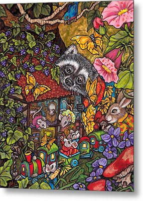 Forest Whimsey Metal Print by Sherry Dole