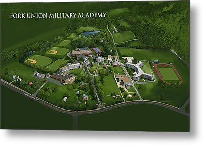 Fork Union Military Academy Metal Print by Rhett and Sherry  Erb