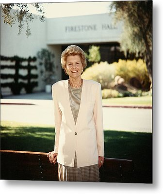 Former First Lady Betty Ford Posing Metal Print by Everett
