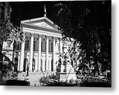 former national congress building Santiago Chile Metal Print by Joe Fox