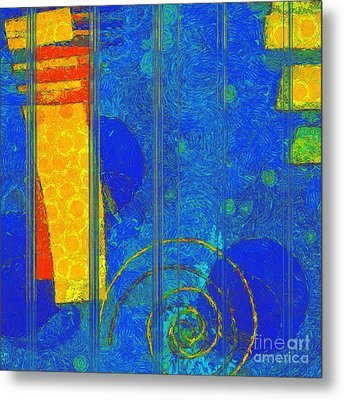 Formes - A0201blylgr Metal Print by Variance Collections