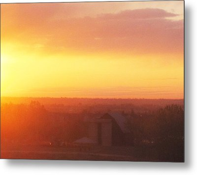 Fort Collins Sunrise Metal Print by Tammy Sutherland