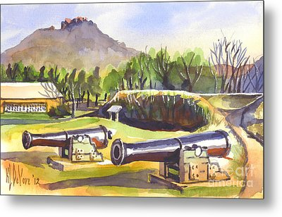 Fort Davidson Cannon II Metal Print by Kip DeVore