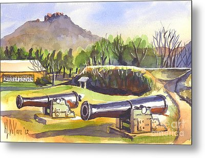 Fort Davidson Cannon Metal Print by Kip DeVore