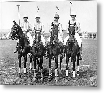 Fort Hamilton Polo Team Metal Print by Underwood Archives