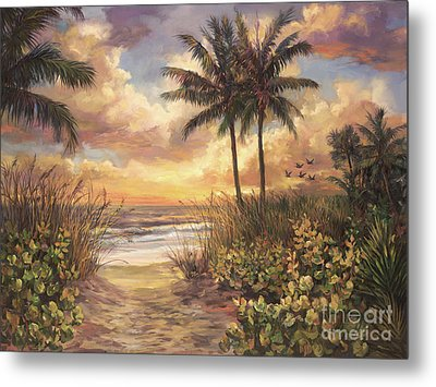 Fort Myers Sunset Metal Print by Laurie Hein