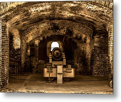 Fort Sumter Famous Cannon Metal Print by Optical Playground By MP Ray